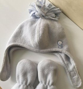 зимняя шапка для мальчика 6-12 мес
