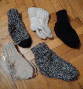 Вязаные, шерстяные носочки