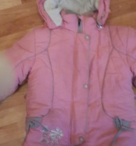 Зимний комплект - полукомбинезон и куртка