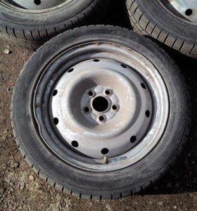 Три зимних колеса Subaru R16 195/55