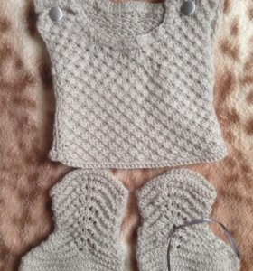 Жилеточка с носочками