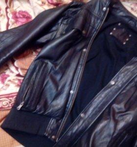 Куртка кожаная chevignon.б.у кожа нежная