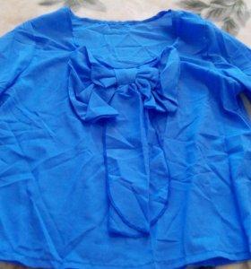 Блуза туника новая и юбка шорты белые тоже новые