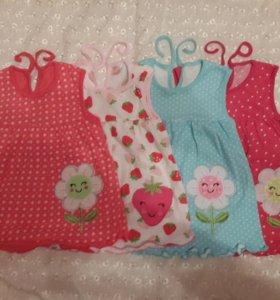 Новые платья на 1-1.5года