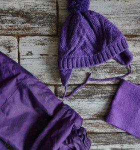 Комплект Gusti шарф, варежки и шапка