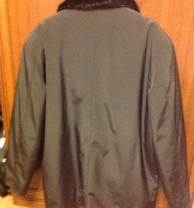Куртка мужская зимняя ткань плащевая мех кролик