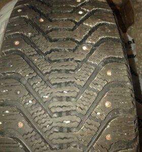шина на диске зима шипы