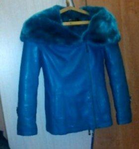 Зимняя куртка,кожаная