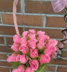 Букет из конфет, корзинка с розами СКИДКА!!!