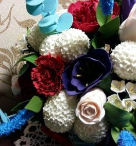 Букет цветов из фоамирана.
