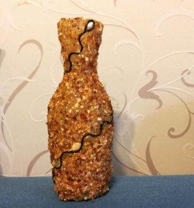 Декоративная янтарная ваза