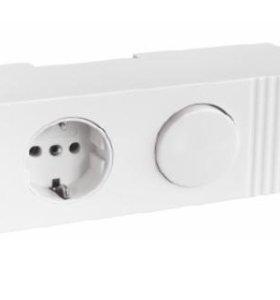 Накладная розетка с выключателем для светильника