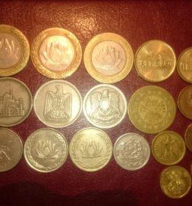 Монеты разных стран арабского мира