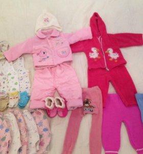 Пакет вещей на девочку 3-10 месяцев