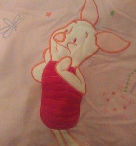 Бортики, одеяло, подушка, наволочка