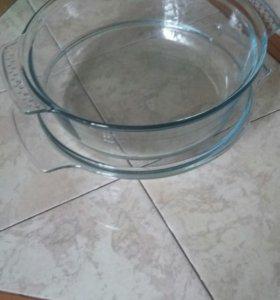 Кастрюля из жаропрочного стекла диаметр 26