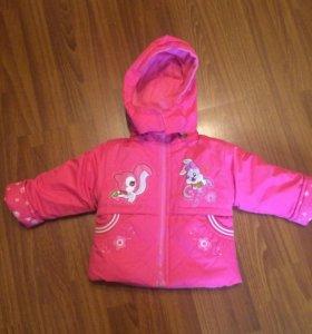 Куртка+комбеКомплект на холодную осень для девочки