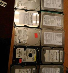 Жесткие диски IDE от 40gb до 160gb