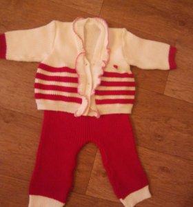 Детский вязанный костюм