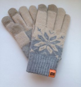 Вязанные перчатки для тачскринов Xiaomi