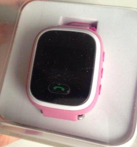 Детские часы с GPS Baby Watch Q60 розовые