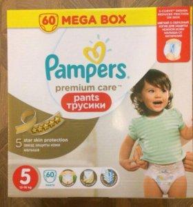 Трусики pampers premium care pants 5 60шт