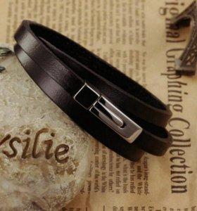 Кожаный мужской браслет(2)