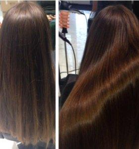 Ботокс волос, ламинирование, экранирование