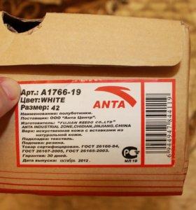 Anta, новые кроссовки, 42