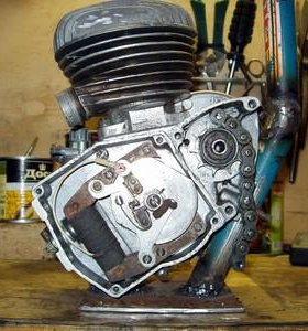 Двигатель от моторчика Рига.СССР