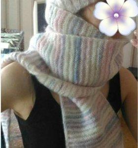 Шапочка и шарф ручной вязки
