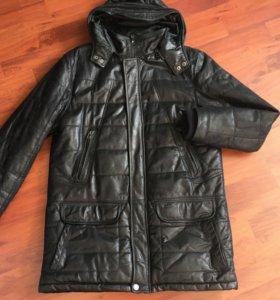 Кожаная тёплая куртка Trapper с мехом (мужская)