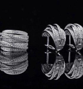 Бижутерия,серьги и кольцо