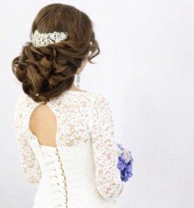 Свадебные и вечерние прически,плетение кос,макияж