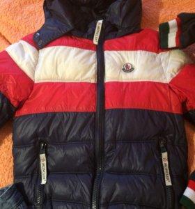 Куртка-пуховик Monkler д/м 110-116 и жилетка на 2