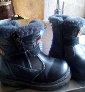 Ботинки кожа зима б.у