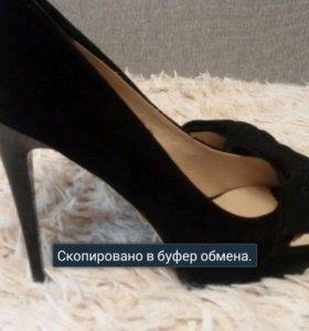 Туфли кожа замша