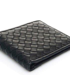 Кошелек портмоне Bottega Veneta, кожаный, черный
