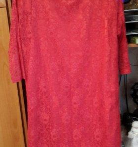 Гипюровое платье 48-50