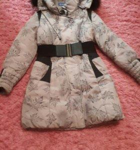 Пальто серое зима