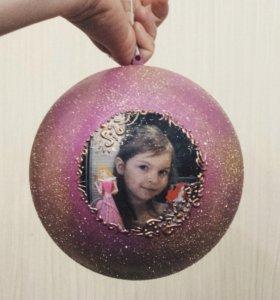 Новогодний шар с фото
