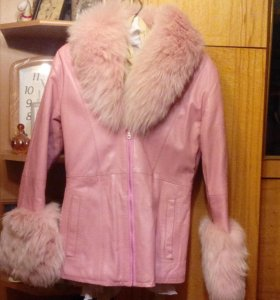 Куртка кожанная с мехом