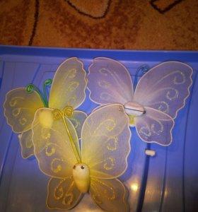 Бабочка на булавке 50р.шт