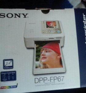 фотопринтер сони dpp-fp67