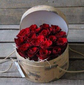 Цветы в коробке/ в корзинке. Доставка