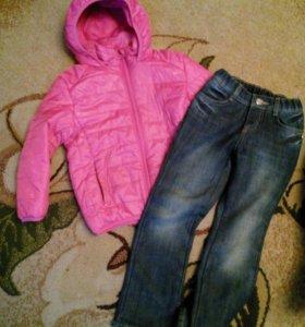 Куртка демисезонная+джинсы
