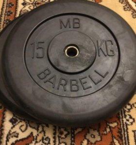 Прорезиненные блины Barbell