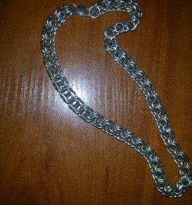 Серебрянная цепь 140грамм бисмарк