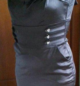 Новое Платье серого цвета