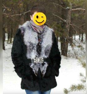 Шуба чернобурка/козлик